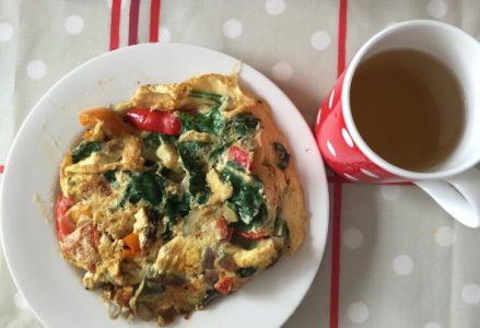 veggy omelett