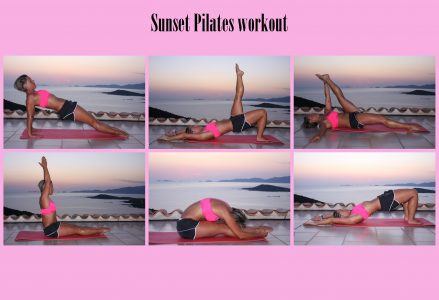Sunset Pilates workout