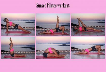 Sunset Pilates workout